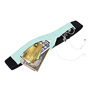 MANGROVE Running Jogging Pouch Belt Waist Pack - Key, Phone, iphone 6 Plus, iphone 7 Plus Holder for Runner - Fanny Waist Pack with 2 Adjustable Pouch, Adjustable and Opening for Headphones