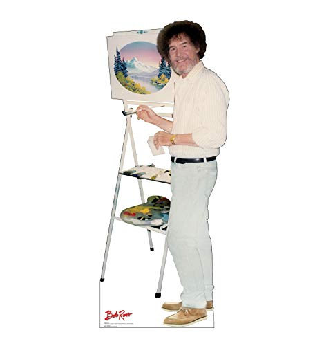 (Advanced Graphics Bob Ross Life Size Cardboard Cutout Standup - PBS The Joy of)