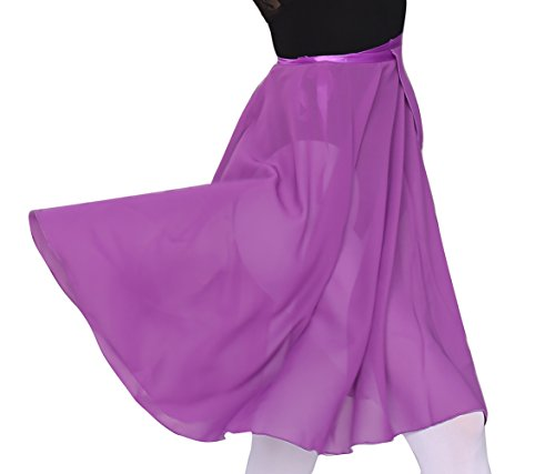 woosun Adult Ladies Ballet Leotard Tutu Skirt Women Dance Wrap Over Scarf 60cm Length Skirt Chiffon ()