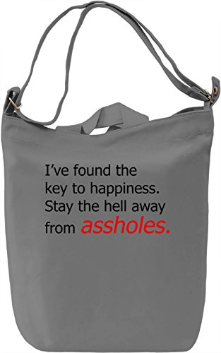 Stay away assholes Borsa Giornaliera Canvas Canvas Day Bag| 100% Premium Cotton Canvas| DTG Printing|