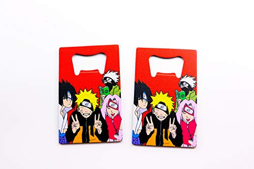 "Naruto Anime Cool Design Bottle Opener 3.25x2"" Metal Credit Card Beer Bottle Openers Commercial Restaurant Bar Quality Kitchen Tool OP-144 (2 Bottle Openers)"