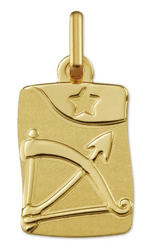 www.diamants-perles.com - Médaille Zodiaque - Or jaune 750/1000 - SAGITTAIRE