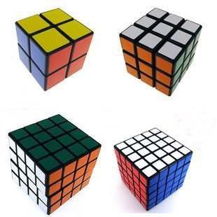 Black Cube Collection - Black Cube Puzzle Bundle Pack,2x2x2,3x3x3,4x4x4,5x5x5 Set,shengshou Speed Cube Collection