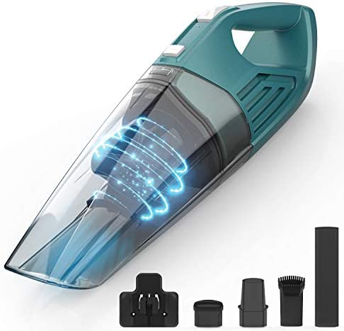 ORFELD Handheld Vacuum, Portable Handheld Vacuum Cleaner 7Kpa Powerful Suction Wet & Dry, Cordless Hand Vacuum with Long Lasting 14.8V 2200mAh Battery Up to 30 Minutes Cleaning for Home Pet Car