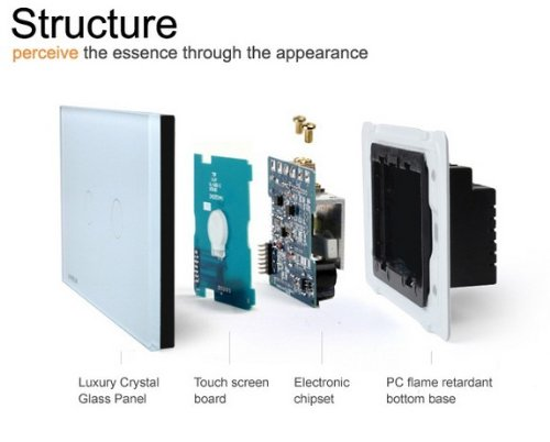 NIMTEK US/AU Standard, Smart home, Ivory White Crystal Glass Panel,VL-C302DR-81,110~250V/50~60Hz Wireless Dimmer Remote Light switch
