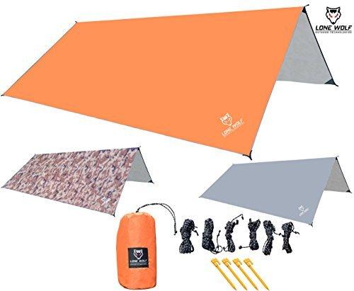 LONE WOLF 10.5u0027 x 10u0027 Lightweight Hammock Rain Fly Tent Tarp Survival Tarp Water Proof C&ing Shelter RIPSTOP Material UV Protection Sand Resistant Beach ...  sc 1 st  Hiking Gear Store & LONE WOLF 10.5u0027 x 10u0027 Lightweight Hammock Rain Fly Tent Tarp ...