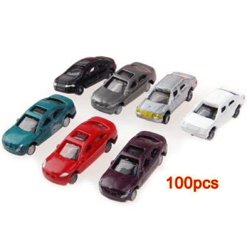 SODIAL(R) 100pcs Painted Model Cars Building Train for sale  Delivered anywhere in USA