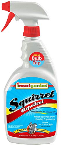 I Must Garden Squirrel Repellent 32oz: Also Repels Chipmunks and Raccoons - Stops Nesting and Chewing on: Plants, Vehicle Wires, Fruit Trees, Attic, Furniture, Decks, Bulbs (Best Way To Keep Squirrels Out Of Garden)