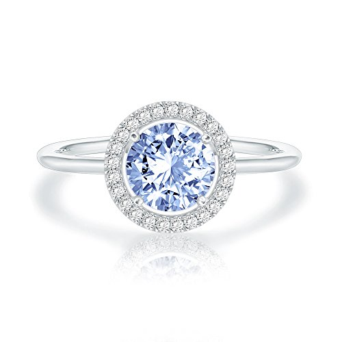 Swarovski Crystal 14K White Gold Plated Birthstone Rings | White Gold Rings for Women | Zircon Ring