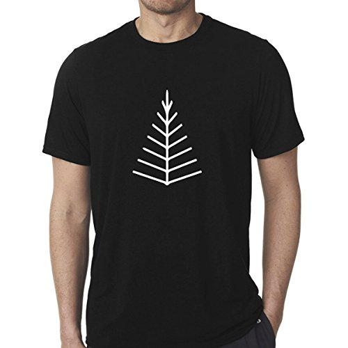 stickany-poly-cotton-unisex-black-shirt-series-twig-tree-arrow-head-design-color-white-large