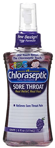 Phenol Sore Throat (Chloraseptic Sore Throat Spray for Kids-Grape-6 oz (177 ml))
