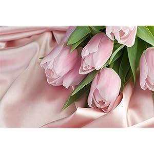 Forin Puzzle Puzzle In Legno Fai Da Te 1000 Pezzi Tulipani Rosa Per Bambini Puzzle In Legno Regalo Di Decompressione Ad Alta Difficolt 75x50cm