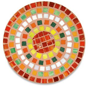 Mosaic Stone Cement - Jennifer's Mosaics Round Outdoor Stepping Stone Mold, 12-Inch