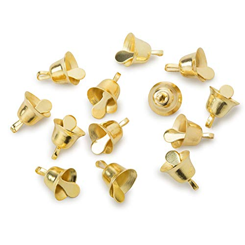 Darice Liberty Bell - Gold - 3/8 inch - 12 Pieces