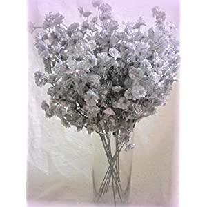 Inna-Wholesale Art Crafts New 12 Silver Silk Baby's Breath Bouquet Spray Decorating Flowers Fillers - Perfect for Any Wedding, Special Occasion or Home Office D?cor 111