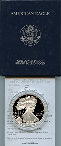 Amazon Com 2004 American Silver Eagle Proof 1 Dollar