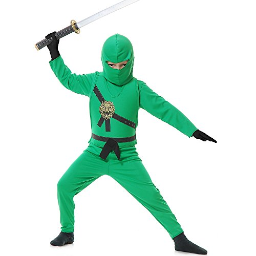 (Charades Child's Ninja Avenger Costume, Jade Green,)