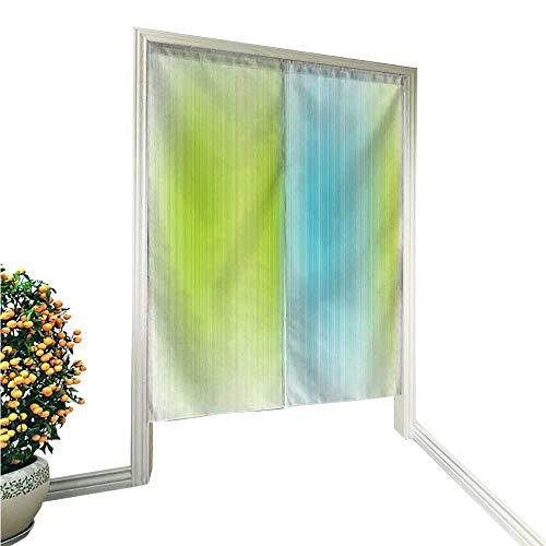 e Noren Door CurtainDigital Striped Texture Vertical Never Ending Lines Technical Long Narrow Bands Bars Decor Tapestry Cotton Linen Curtain Blind 33.5