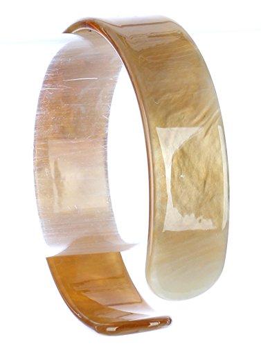 Turtoise Lucite Cuff 2 5/8 Inch Diameter 3/4 Inch Tall Bracelet (Lucite Bracelet Cuff)