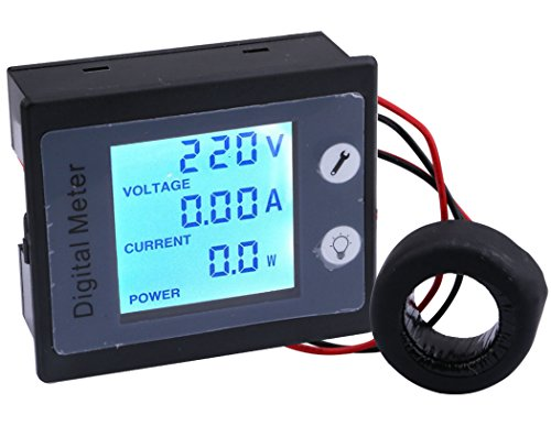 Yeeco AC 80-260V 100A Digital Meter Multifunciton Voltmeter Ammeter Power Monitor Energy Tester, STN LCD Display Auto-Memory Digital Voltage Ampere Panel Meter Multimeter with CT