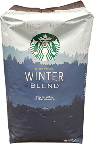 Starbucks Winter Blend Whole Bean Coffee, 40 Ounce