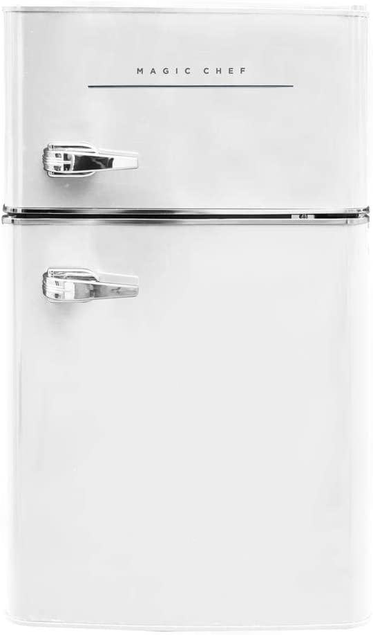 Magic Chef Retro Mini Refrigerator 3.2 cu. ft. 2-Door Fridge in White
