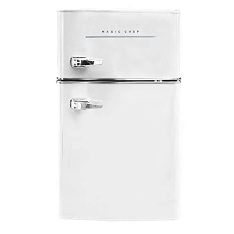 765710da0bb Image Unavailable. Image not available for. Color  Magic Chef Retro Mini  Refrigerator 3.2 cu. ft. 2-Door ...
