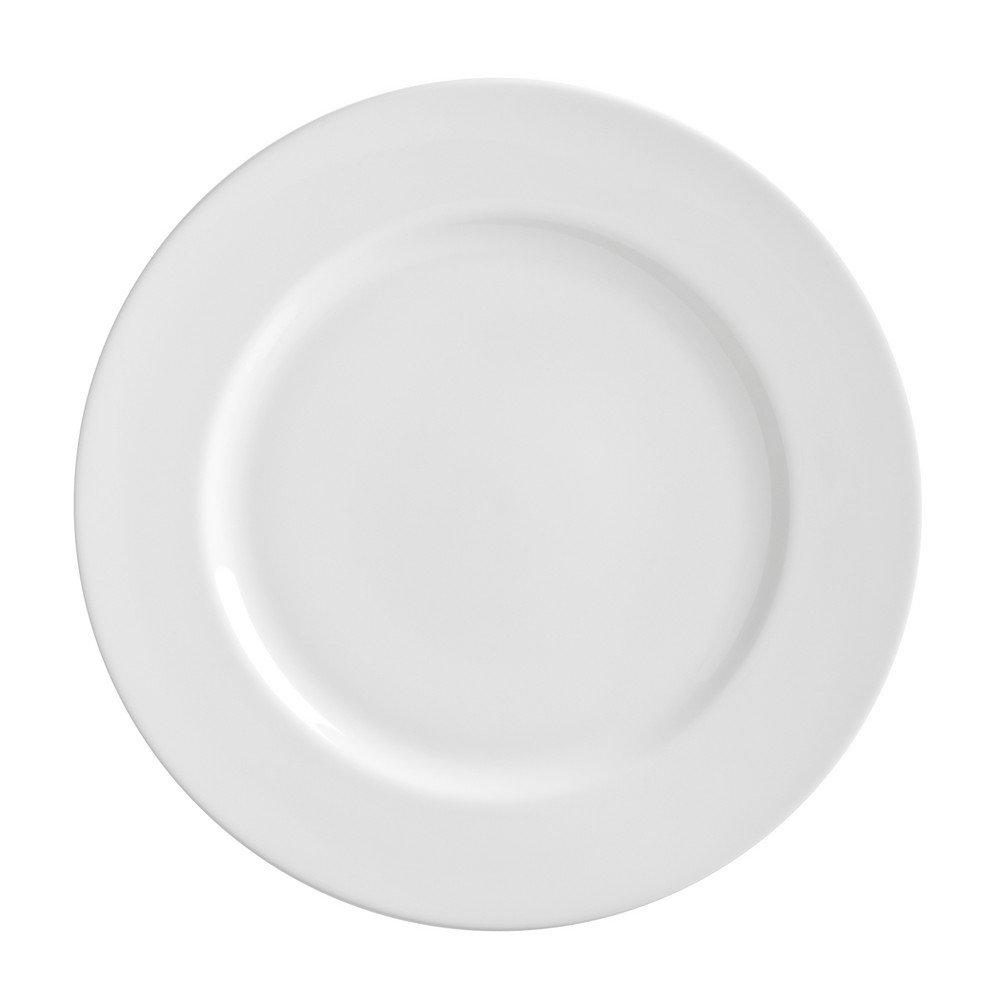 10 Strawberry Street Royal White 11'' Dinner Plate, Set of 6, White