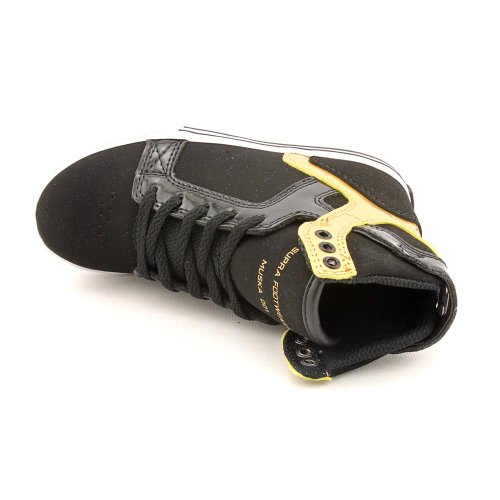 SUPRA Shoes KIDS SKYTOP-BLACK/GOLD-WHITE Negro - negro