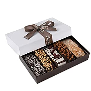 Best Epic Trends 41Pn1M7x-2L._SS300_ Barnett's Gourmet Chocolate Biscotti Gift Basket, Christmas Holiday Him & Her Cookie Gifts, Prime Unique Corporate Men…