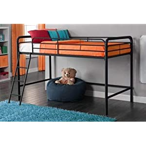 Bunk Beds for Kids Toddler Twin Junior Metal Loft Black Your Child Will Sleep in Style and Great Solution for Your Space Saving Needs by HomeTeks