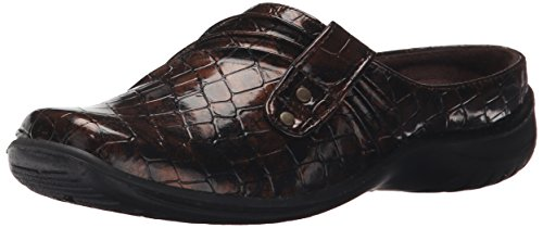 (Easy Street Women's Holly Mule,Bronze Patent Croco,8 W US)