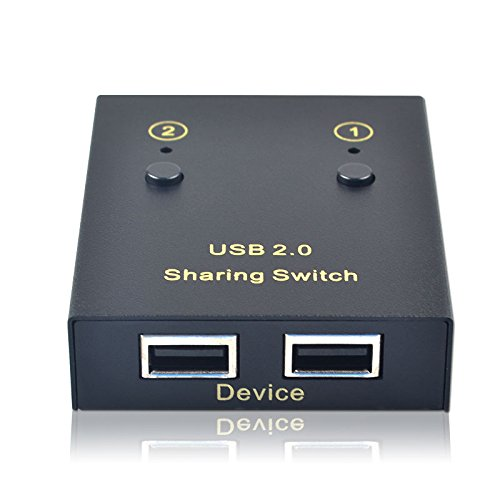 Freedom Blue USB2.0 printer sharing 2 Port computer 2 USB output manual switch 2 into 2 out 1 out for Printer Scanner Mouse Keyboard Switcher
