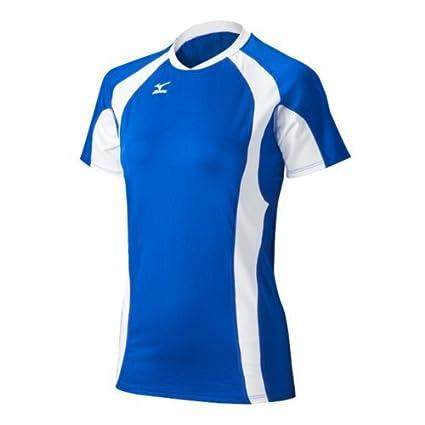 Mizuno Women's Techno Volleyball V Shorts Sleeve Jersey 440442.5100.06.L-P