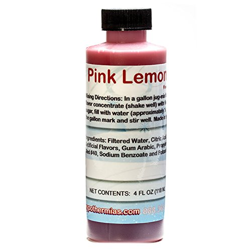 Pink Lemon Sour Shaved Ice and Snow Cone Flavor Concentrate 4 Fl Ounce (Concentrate Snow Cone)