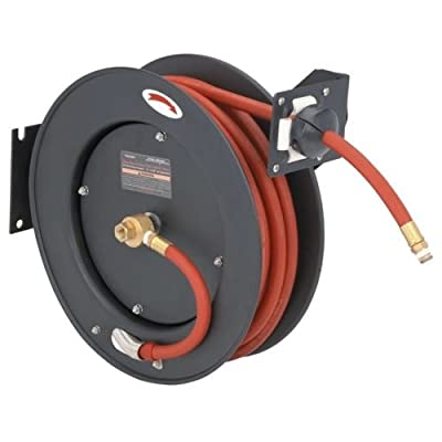 "Retractable Air Hose Reel Auto Rewind 3/8"" X 25' Compressor 300 PSI"