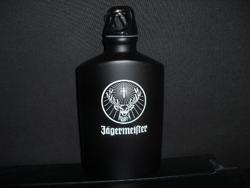 Jagermeister Canteen Screw Top Flask w/Caribeaner Clip