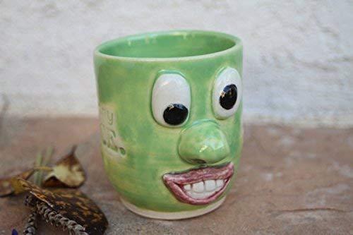 Amazon com: Funny Face Mug ceramic handmade cup: Handmade