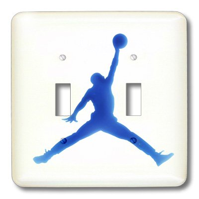 3dRose LLC lsp_109026_2 I Love Basketball Double Toggle (Basketball Switchplate)