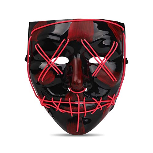 Halloween Costumes With Beards 2019 (Seemaxs LED Light Up Mask Perfect for Halloween 2019 Costume Festival)