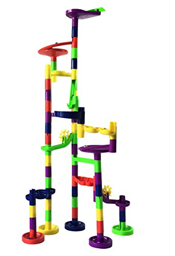 Mr. Marble Run Starter Set (48 Large Marble Run Pieces + 10 Glass Marbles) by Mr. Marble Run (Image #4)