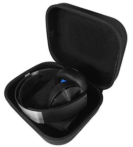 CASEMATIX Protective PS4 Gaming Headset Case - Fits Playstation 4 Platinum Wireless Headset , Dongle , Cables and More