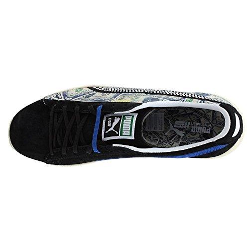 Puma Clyde X Mita Mens Scarpe Stringate In Pelle Scamosciata Nere Scamosciate Scarpe Puma Nero