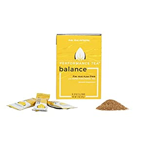 Performance Tea Balance- Instant Tea with Green Tea Powder & Adaptogens (10 Instant Packets) Super Functional Tea with All-Natural Ingredients that Tastes Great 55