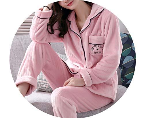 Ispessimento Velluto E Donna Sleepsuits Pigiama Corallo Inverno Pi Autunno WHBOWv6wnq