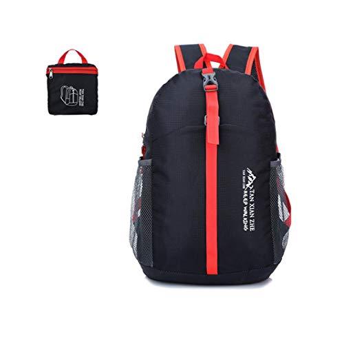 Outdoor Waterproof Folding Backpack, Outsta Trekking Pack School SatchelTravel Sport Hiking Laptop Bag Casual Multicolor (Black) ()
