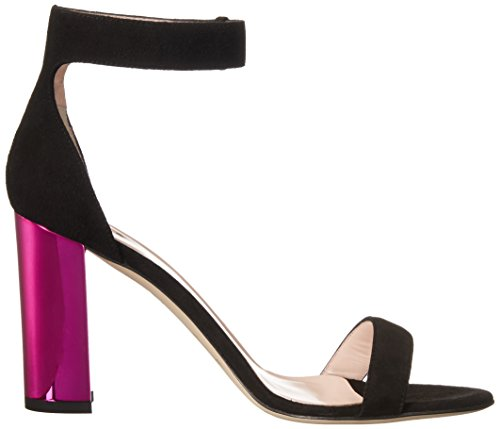 new Black kate Ilona york Women's Heel Suede spade Too Fuchsia 1Y6Rqg