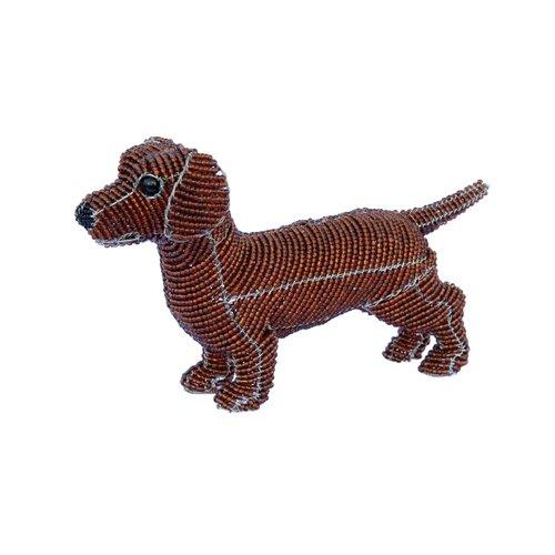 Grass Beadworx (Grass Roots Creations Daschound Dog Beadworx Sculpture, Red)