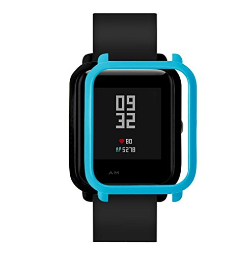 Price comparison product image MChoice Slim colorful Frame PC Case Cover Protect Shell For Huami Amazfit Bip Younth Watch (Blue)
