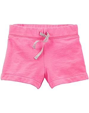 Baby Girls' French Terry Shorts (Baby) - Bright Pink - 3 Months